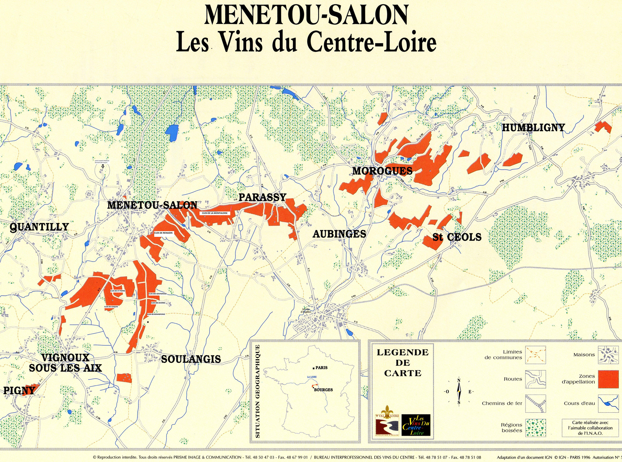 Vignoble menetou salon domaine de coquin menetou for Commune menetou salon